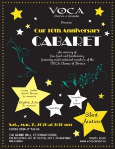 VOCA 2020 Cabaret and Silent Auction